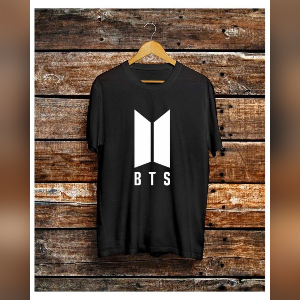 Trendy BTS Theme Tag Print Black Colored Summer Top Half Sleeve Tee Shirt Round Neck Cotton Trendy T-shirt Casual Tshirt Spring Wear Smart Fit Half Sleeve Tee Shirt for Women/Girls