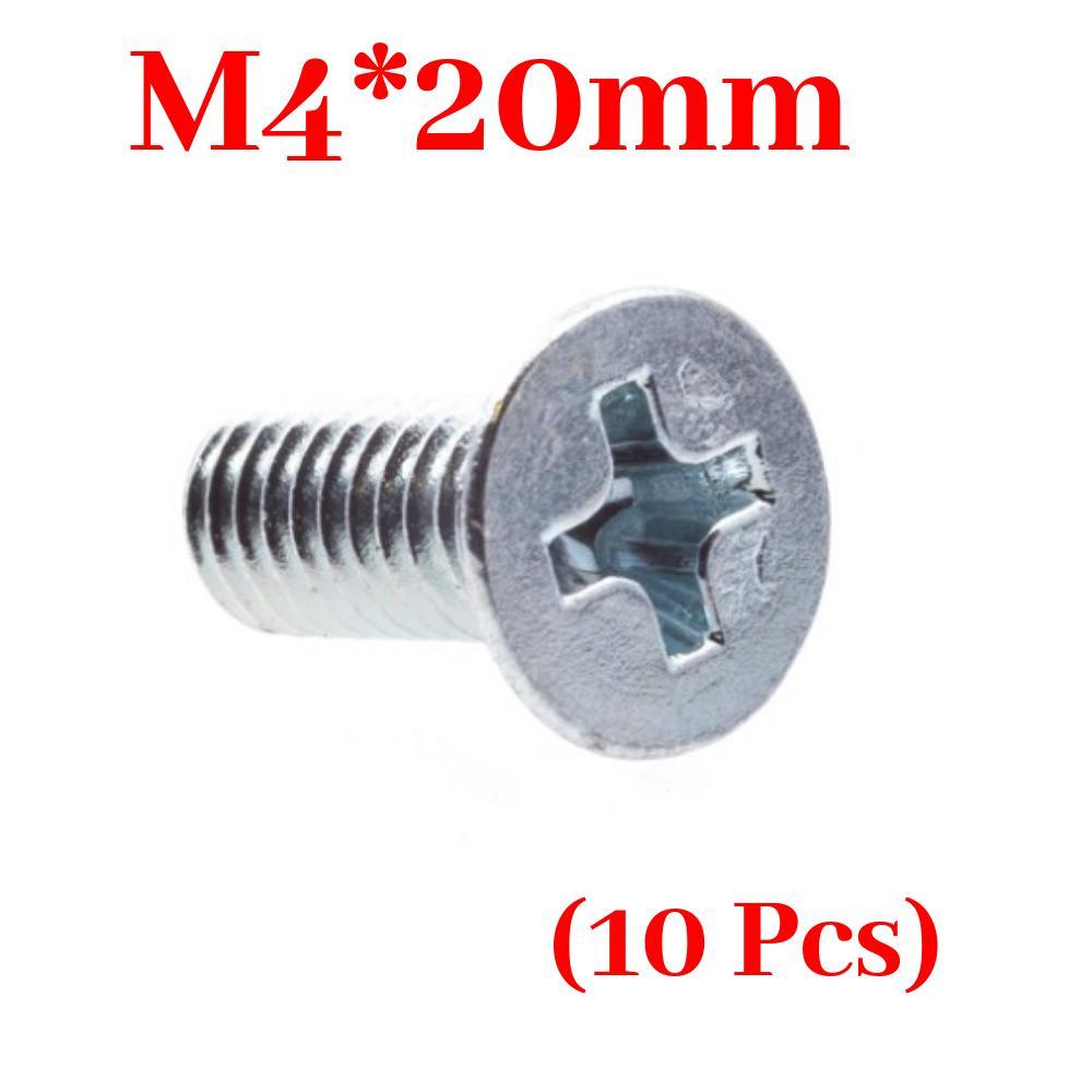 10 Pcs- M4 Screw M4*20mm machine screws