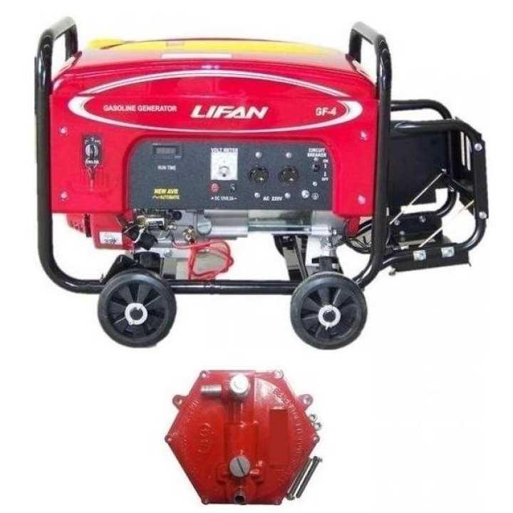 LIFAN Petrol & Gas Generator 5.5 KW - LF7000GF4 with Gas Kit & Wheels Kit