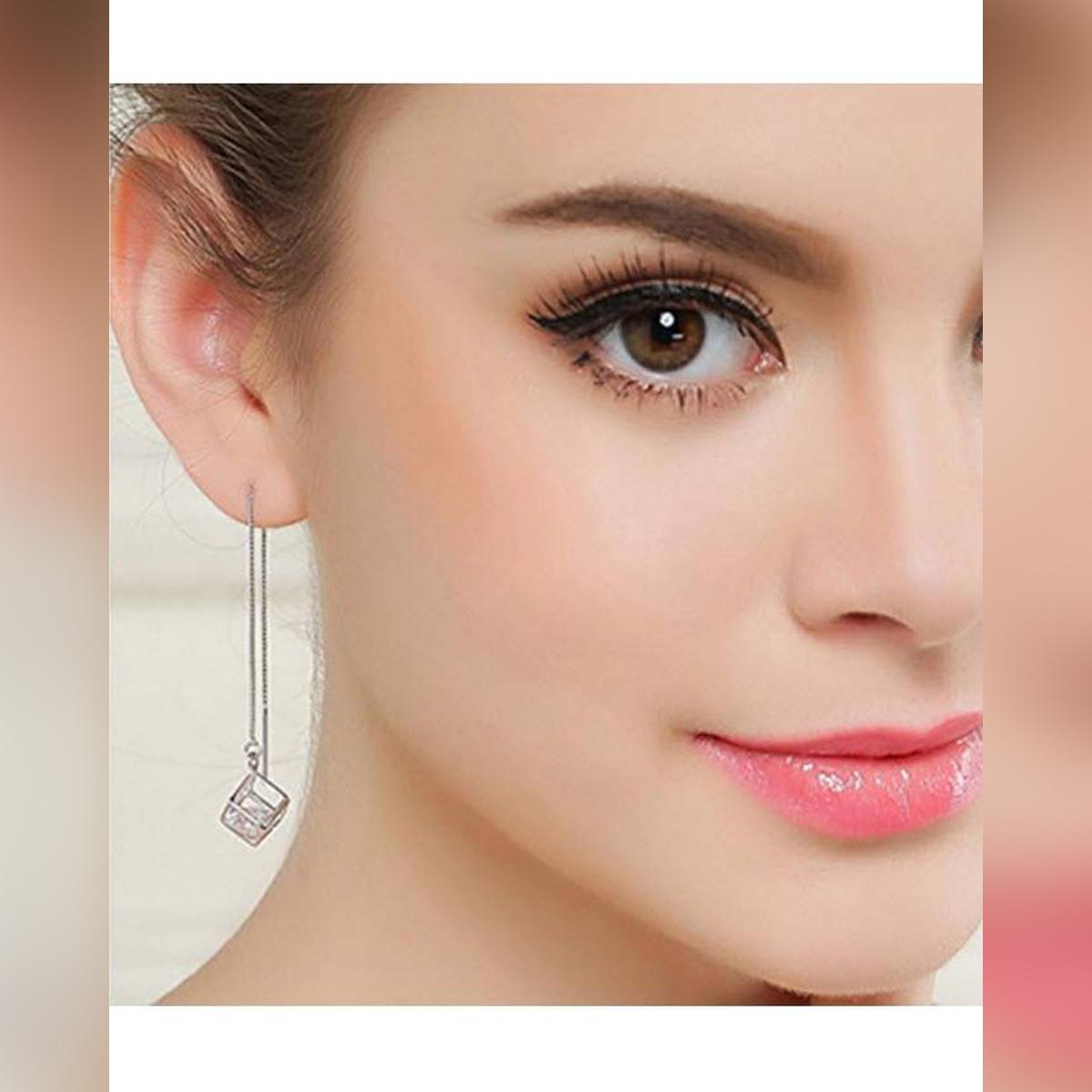 Silver Alloy Earrings for Women