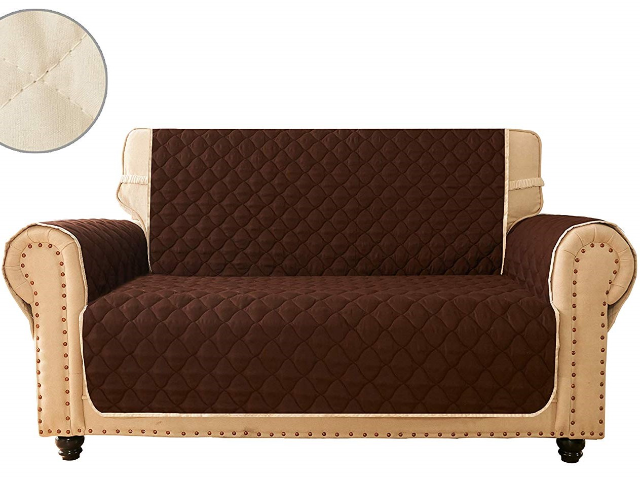 Beddys studio-(7 PCS)- Quilted sofa cover- Sofa runner- Sofa protector- Couch covers