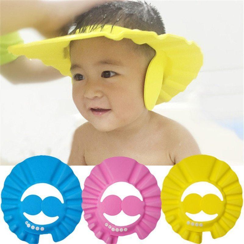 Soft Baby Children With Ear Safety Shampoo Bath Shower Cap Kids Bathing Cap Bath Visor Adjustable Hat Buy Online At Best Prices In Pakistan Daraz Pk