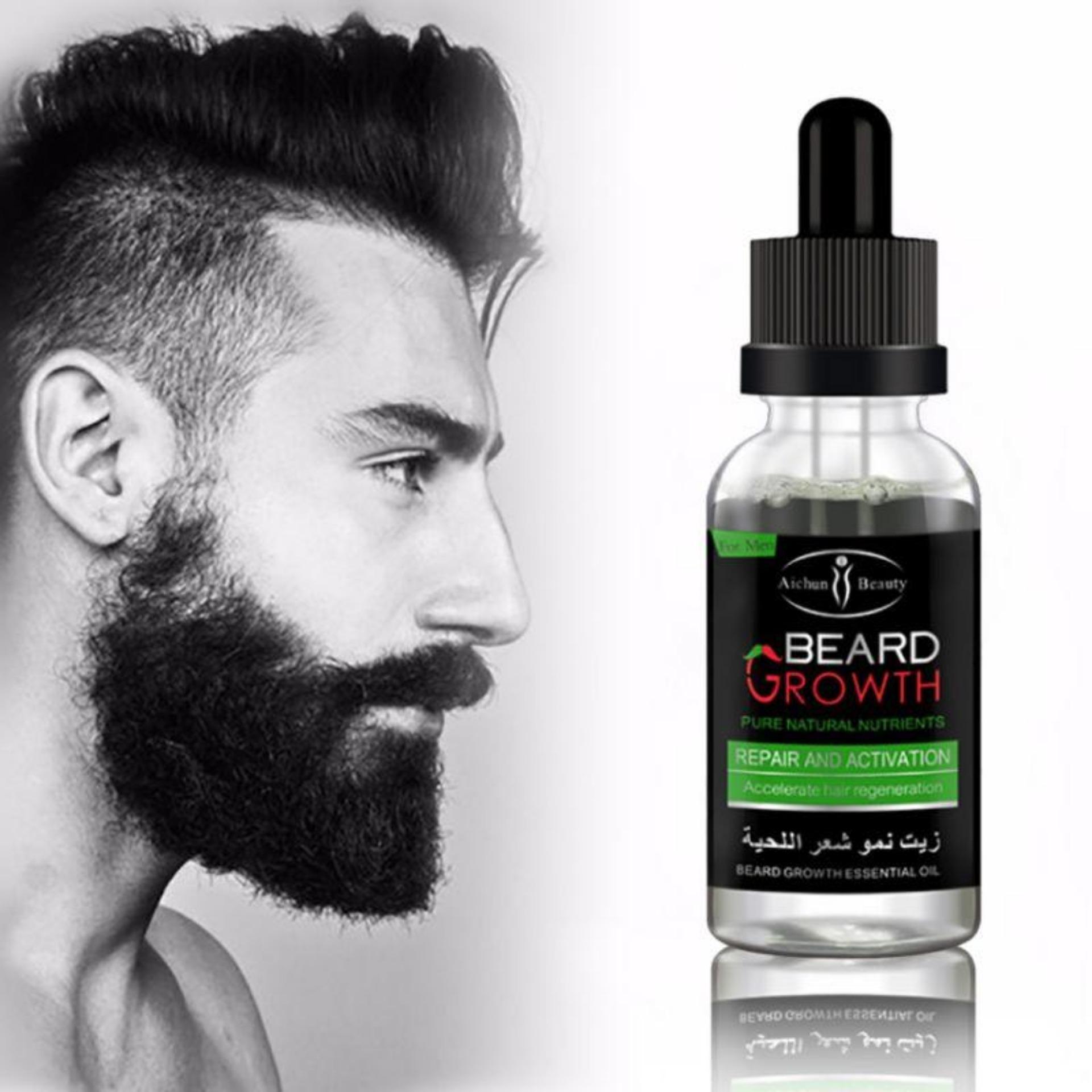 Professional Men Beard Growth Enhancer Facial Nutrition Moustache Grow Beard Shaping Beard care Oil