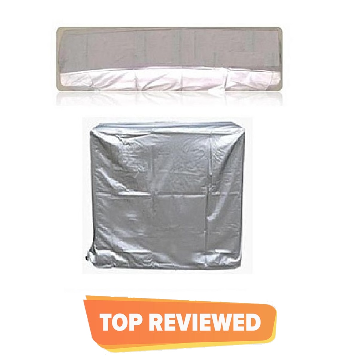 1 Ton Ac Dust Cover For Indoor & Outdoor Unit - Silver