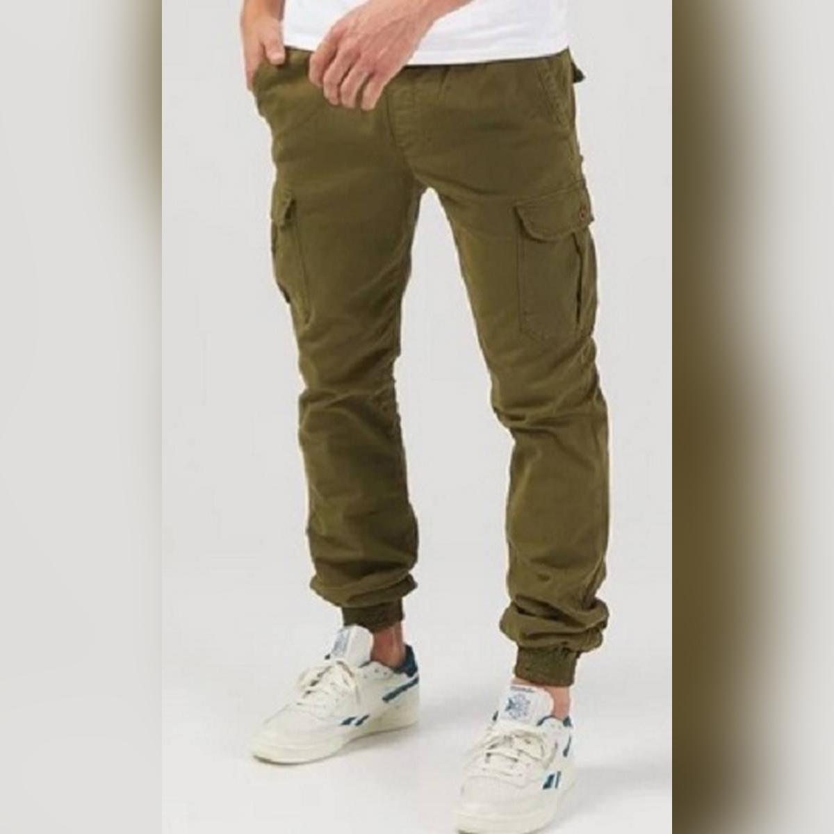 HashBack Olive Green Cargo Jogger for Men