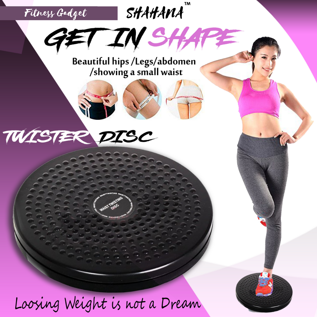Shahana Sport Exercise Twist Board - Ankle Body Aerobic and Cardio Exercise Ab Twister Board with Precision Ball-Bearing - Foot Massage and Rotating Non-Slip Safety Platform Wobble Fitness Fit Waist Exercise For Men Man Women
