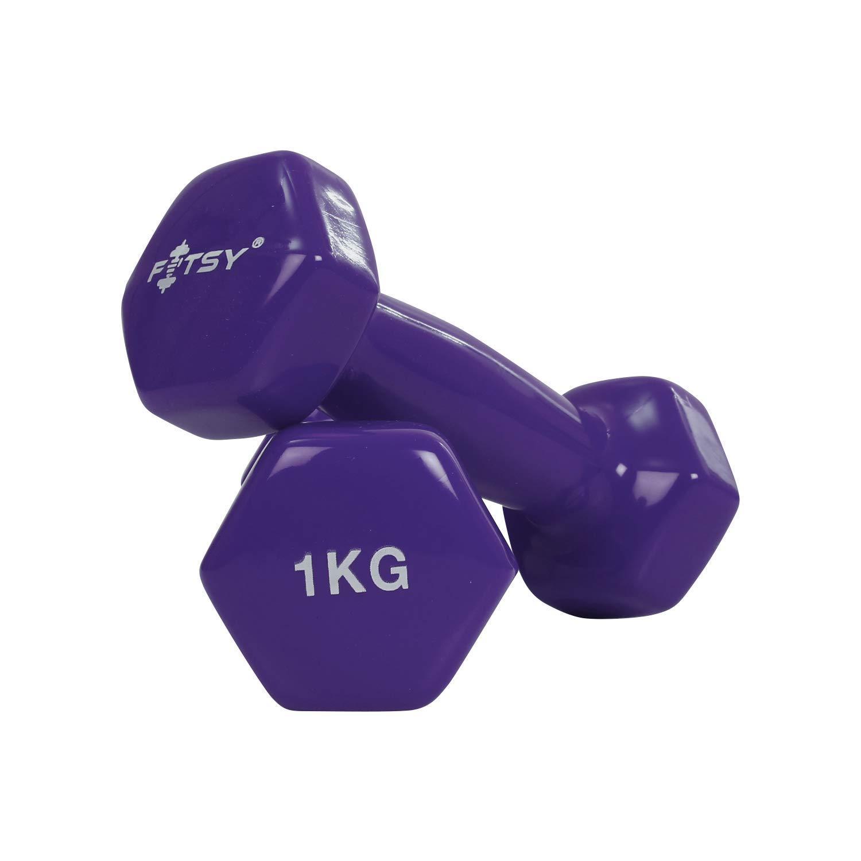 1 KG Dumbbell Set Ladies Yoga Studio Pair Training Home Vinyl Dumbbells Gym