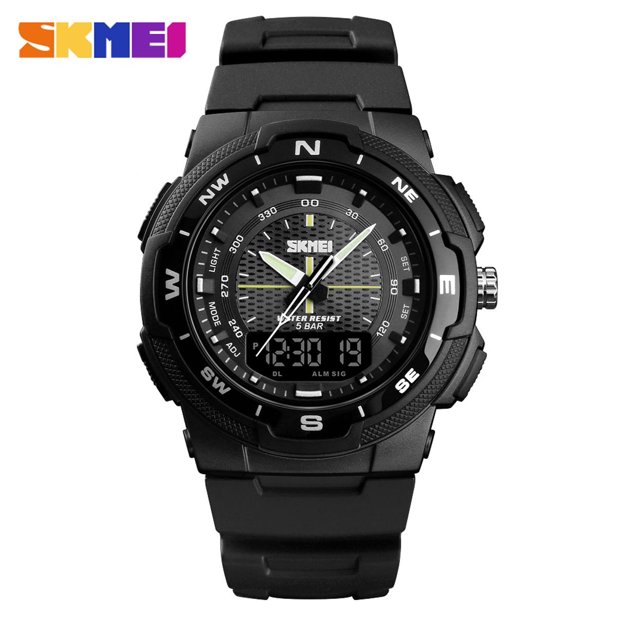 SKMEI Dual Display Analog & DIgital Military Sports Wrist Watch For (Men & Boys)- 1454
