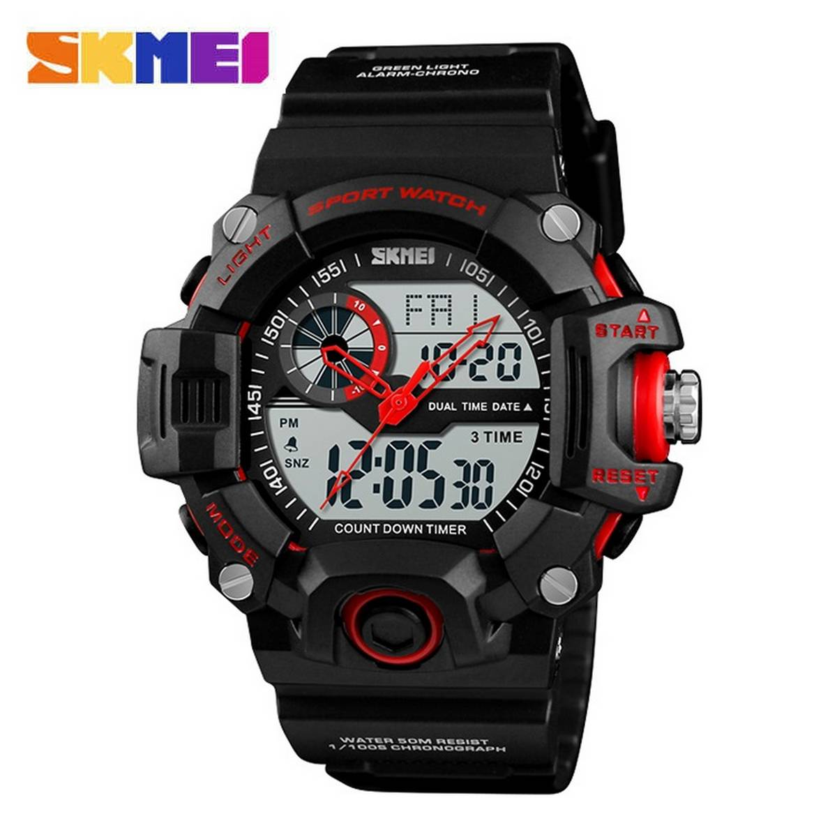 Skmei Sport Military Army Watch Dual Display 3 Times 1331 and 1545