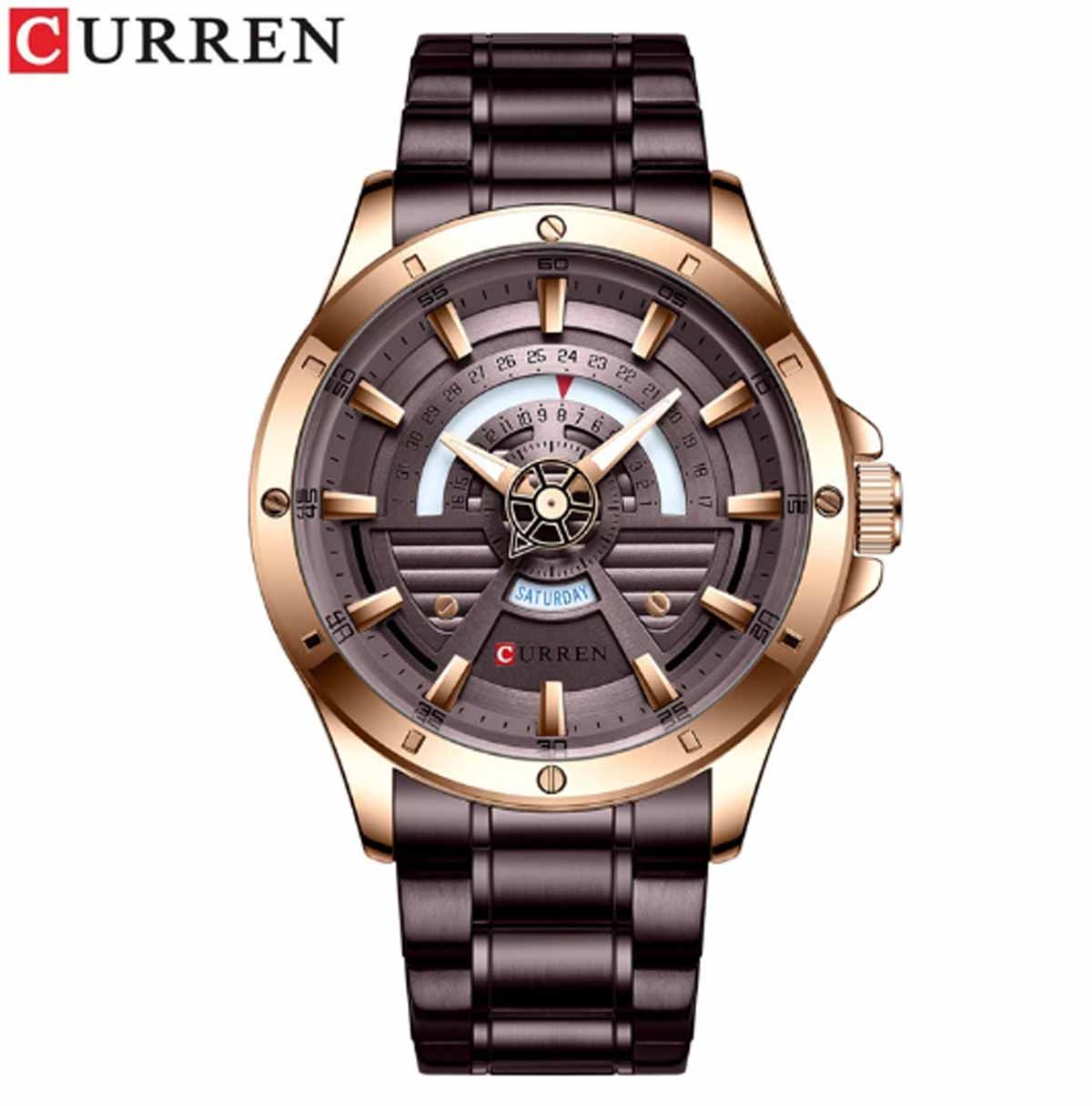 CURREN Luxury Fashion,Casual,Business Quartz Stainless Steel Waterproof With Box And Bag -8381