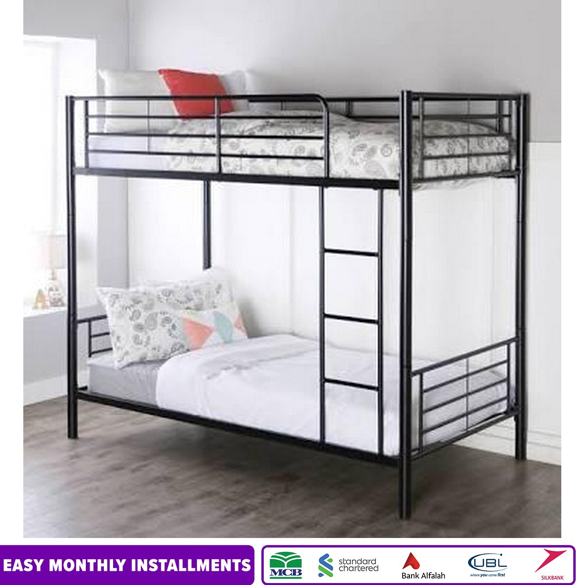 Iron Bunk Bed Fitted With Bolts