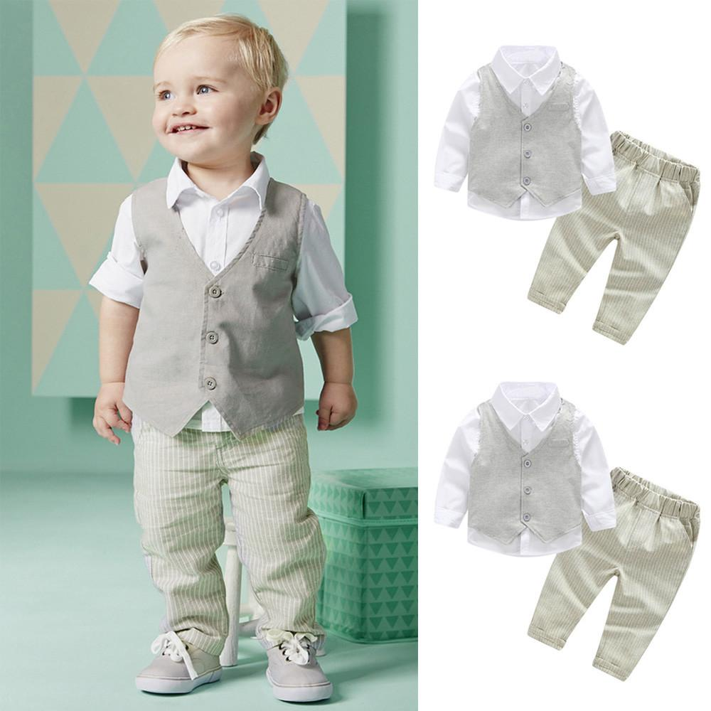 b12010f60688 Perfect Meet new authentic warm Korean version of handsome 3Pcs Infant  Toddler Baby Boys T-