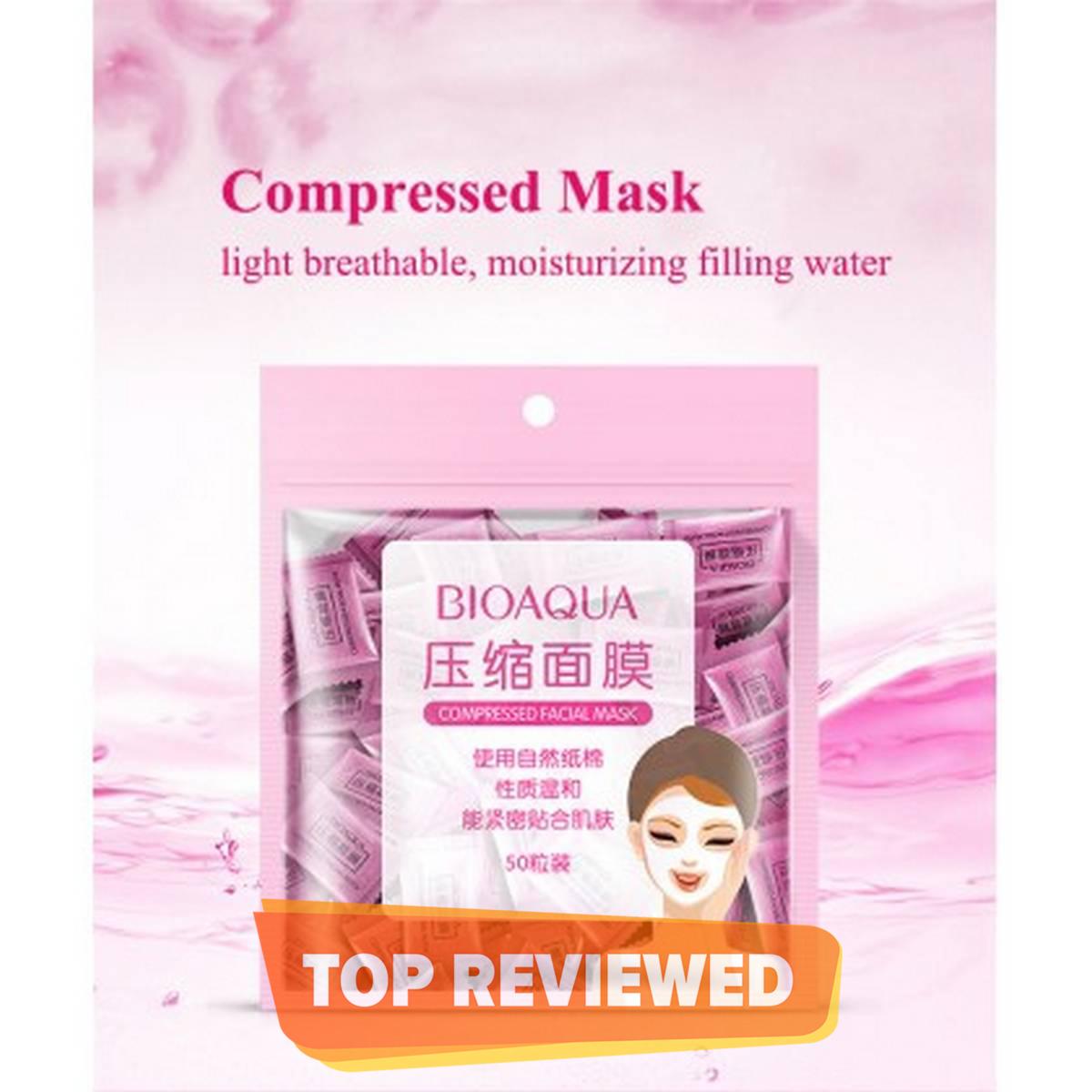 10 Sheets BIOAQUA Compressed Facial Mask Sheet -  Skin Care Compressed Face Sheet