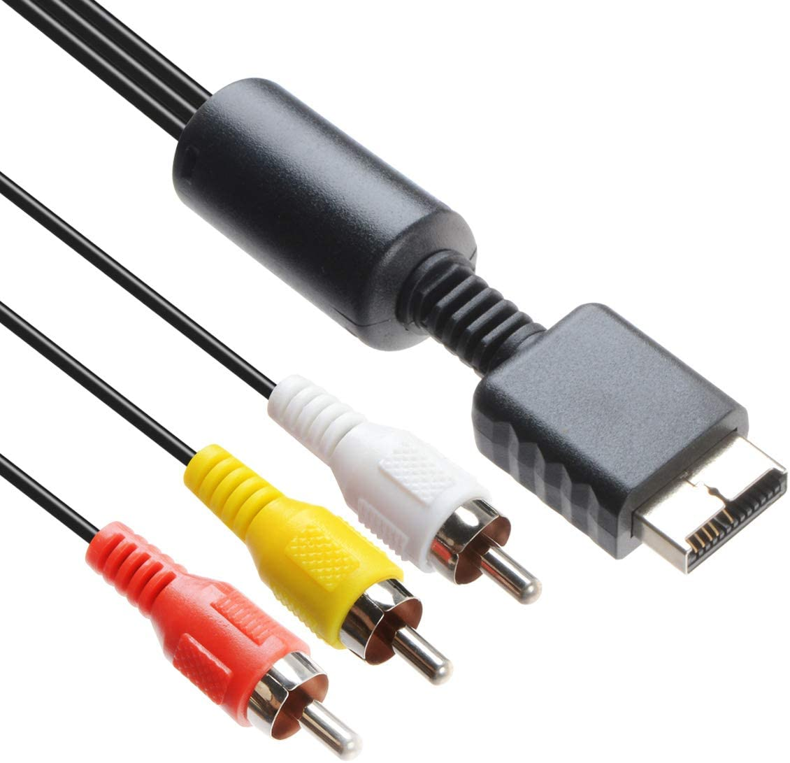 Audio Video RCA Cable - Game Console Component Accessories Connection AV Cable for PS1 PS2 PS3 Playstation