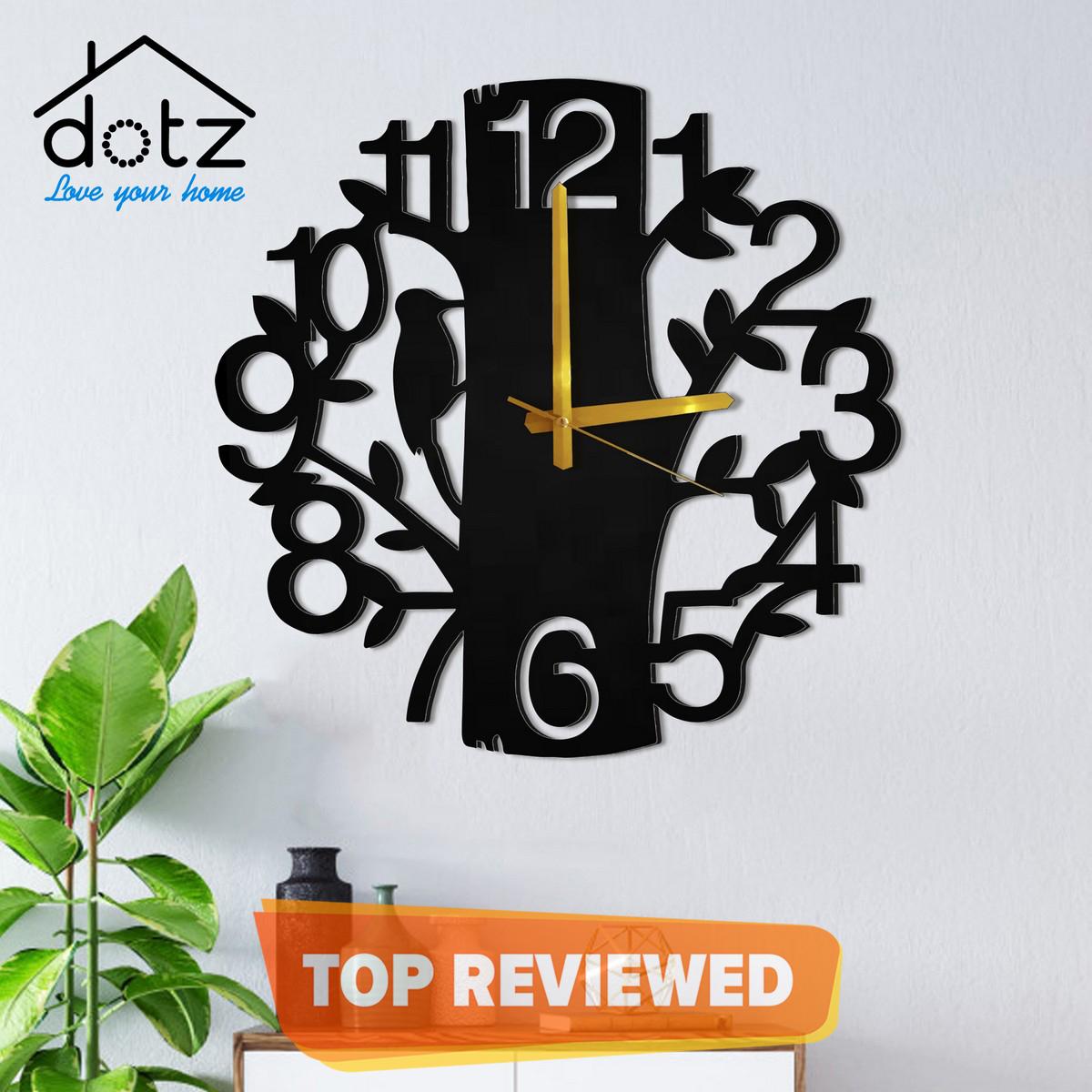 Tree design 12x12  inches clock-large wooden 3D tree clock-stylishclock-dotz brand wall clock-new style tree  clock for home-tree and branches style clock
