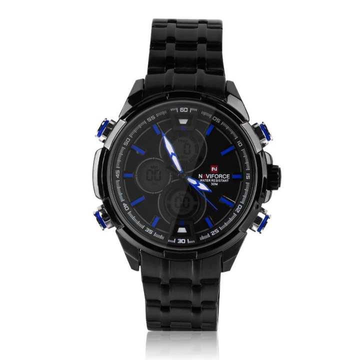 NAVIFORCE Men Business LED Dual Display Digital Quartz Sport Wrist Watch