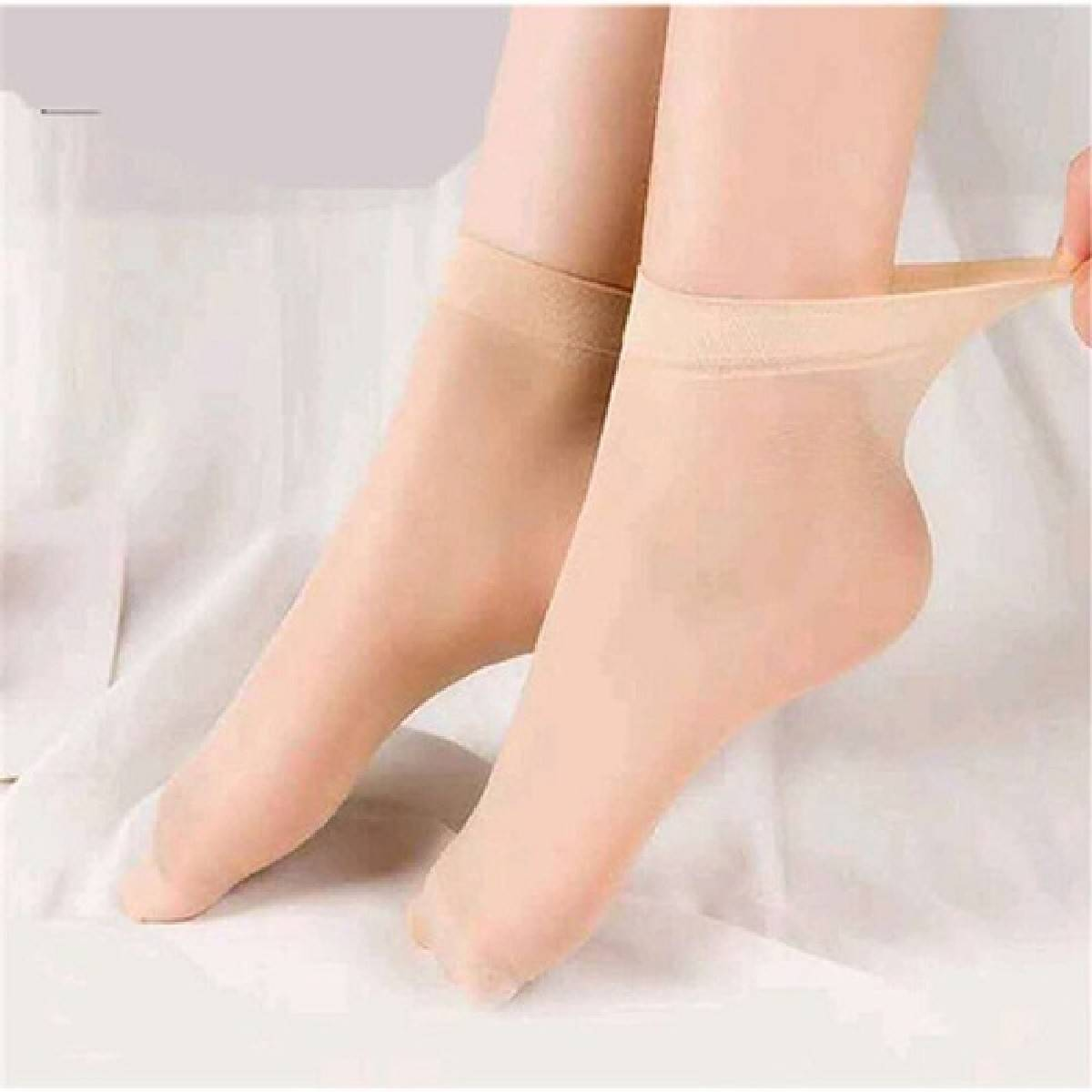 high quality pack of 6 plain Breathable skin color socks for women and girls