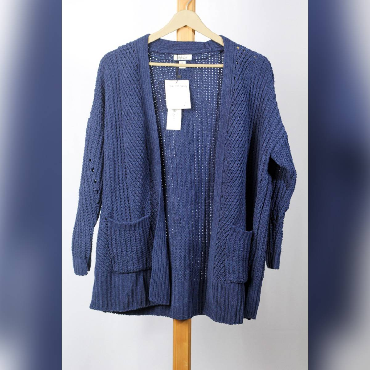 Style & Co Women Casual Chenille Cardigan Sweater Long Sleeve Cardigan