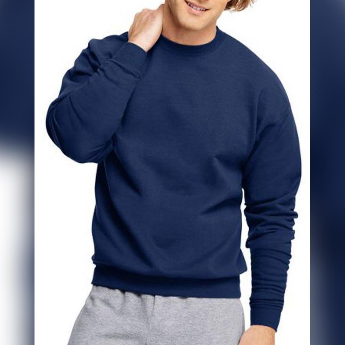 Men's Simple Blue Sweatshirt's Size S M L XL