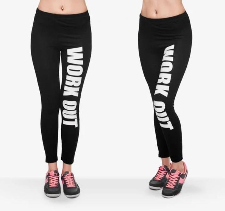 Pack of 2 Lycra Work out Printed Gym Tights For Women