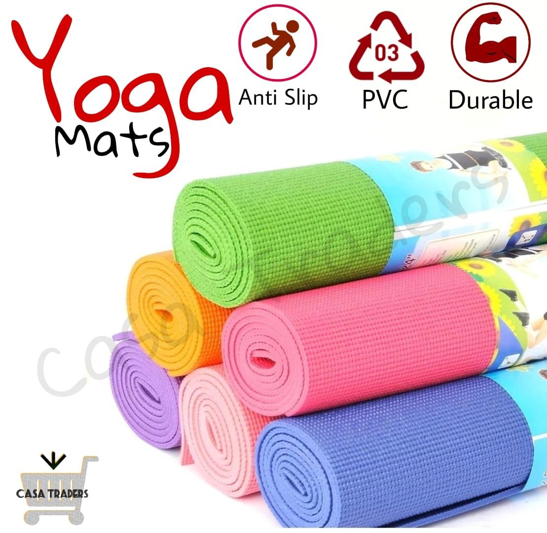Yoga Mat, 6mm Anti-slip Thick Gym Mat, Exercise Mat, Gym Floor Mat, Fitness Mat, Eco Friendly Mat, Fitness Workout Mat, Health Booster Mat, Anti-Tear Durable Exercise Mat, Latest Korean Style Mat – HOMEFY