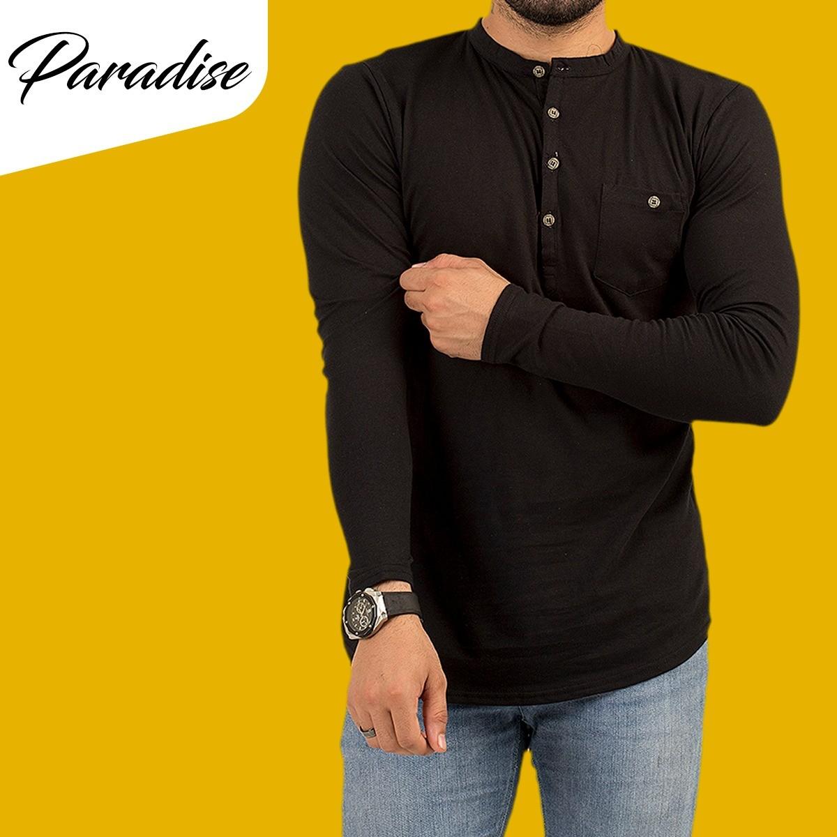 Paradise Zone Full Sleeves Kurti Plain Tshirts For Men