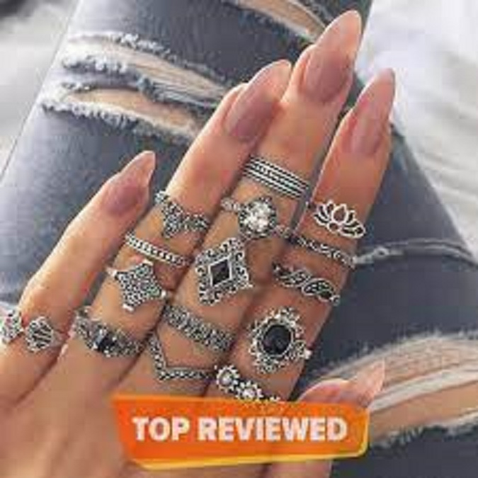 15 Pieces Rings For Girls - High Quality Imported Latest Design 15 pcs Ring Set For Girls - Ring Set For Women - Fashion Jewellery