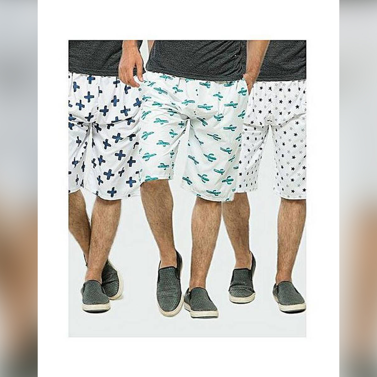 {Summer Collection} 1pc Printed Cotton Beach Shorts For Men