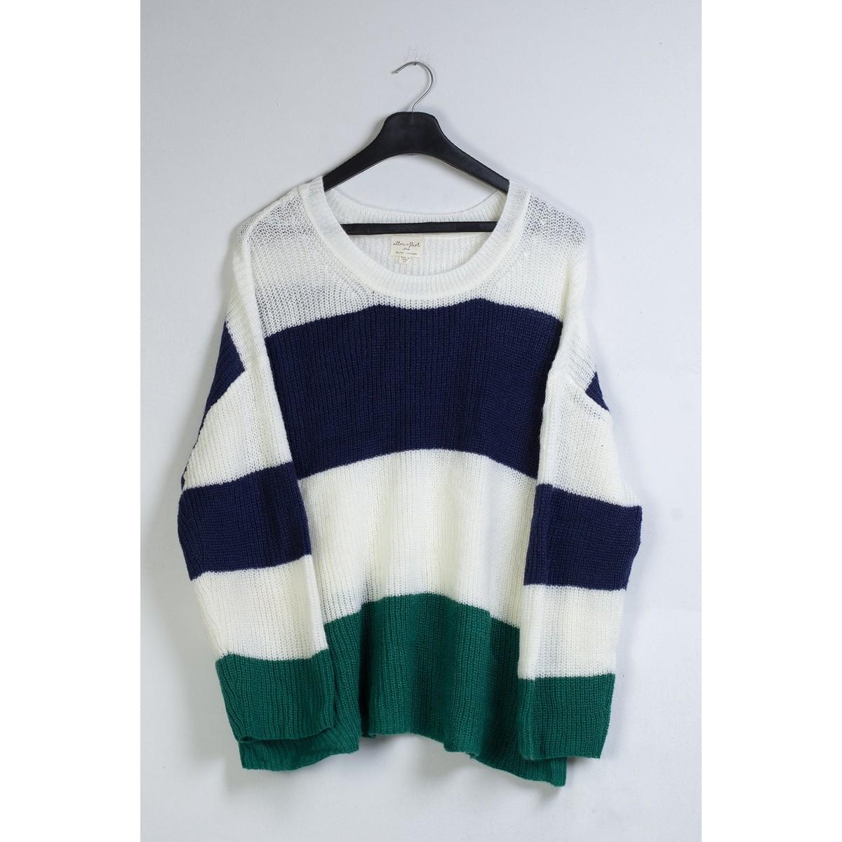 UltraFlirt woolen crew neck ladies multi color sweater