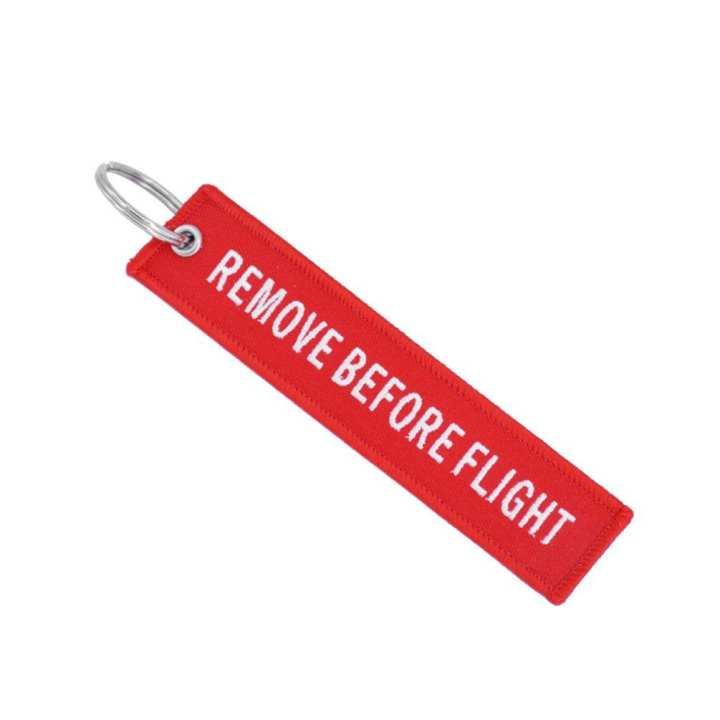 Remove Before Flight Key Chain Embroidery Ring Finder For Car Door