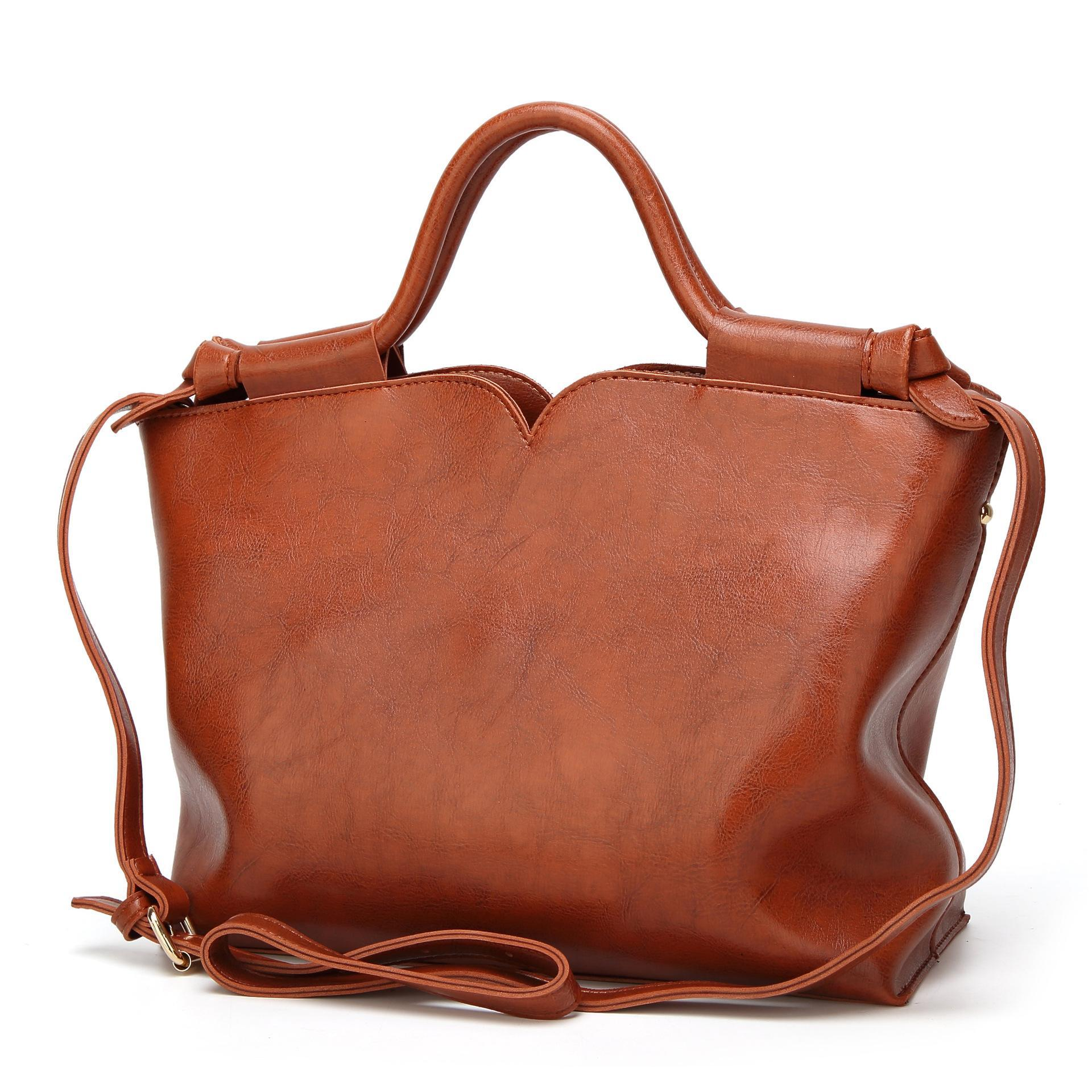 18ab32f36ee Product details of New women's bag European and American fashion handbags  wild single shoulder diagonal package oil wax leather retro ladies bag