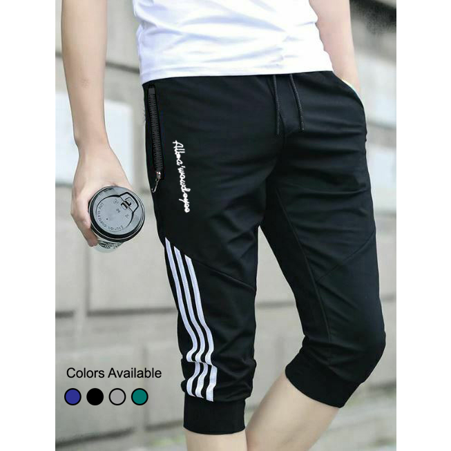 Men's All Eyes Printed Sports Gym Long Cotton Summer Three Quarters Shorts for Men