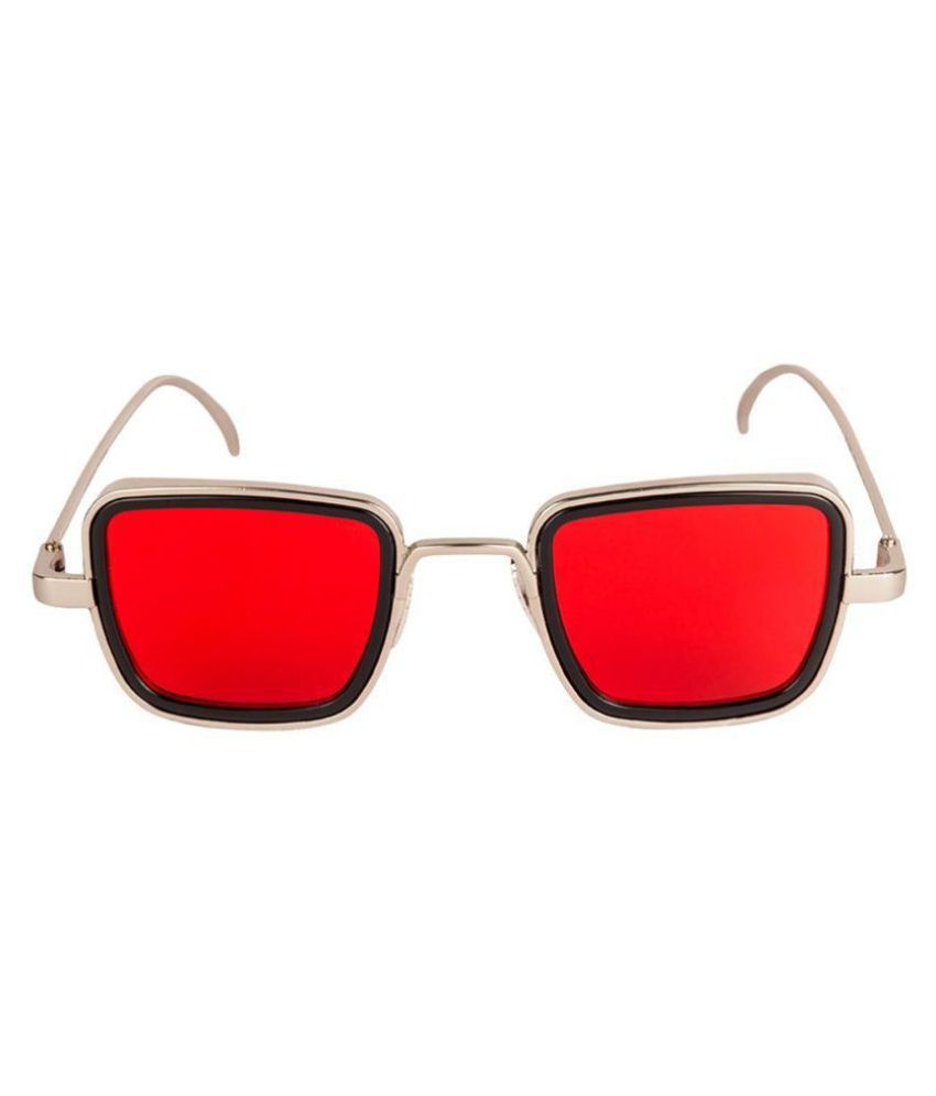 Pure Metal kabir singh sunglasses for men [ AVAILABLE in red and blue lenz with silver metal frame]