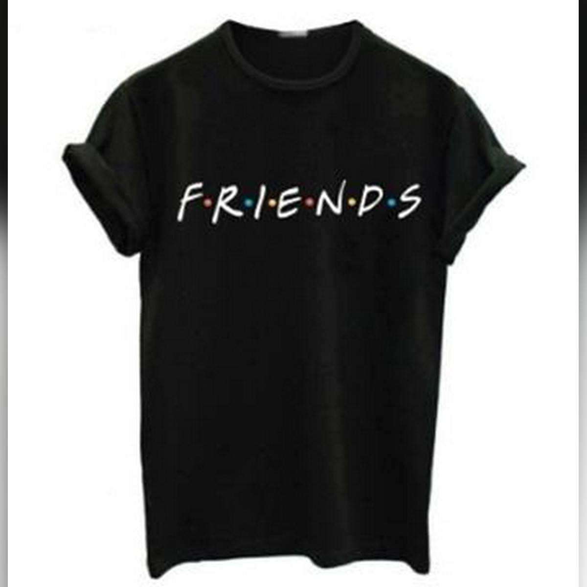 FRIENDS Letter t shirt Women t-shirt Casual Funny t shirt For Lady Girl Top Tee