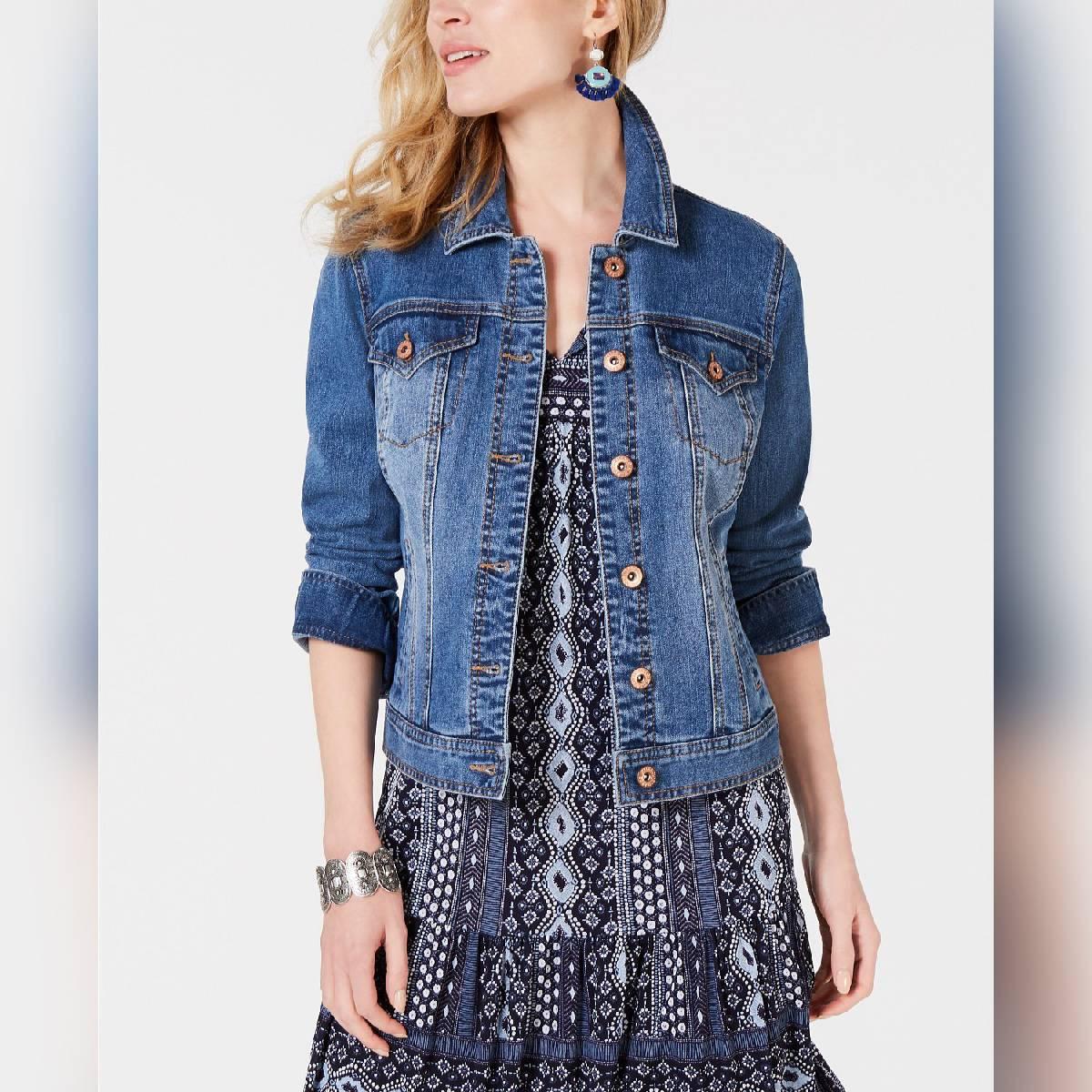 Ace Women Blue Solid Jacket