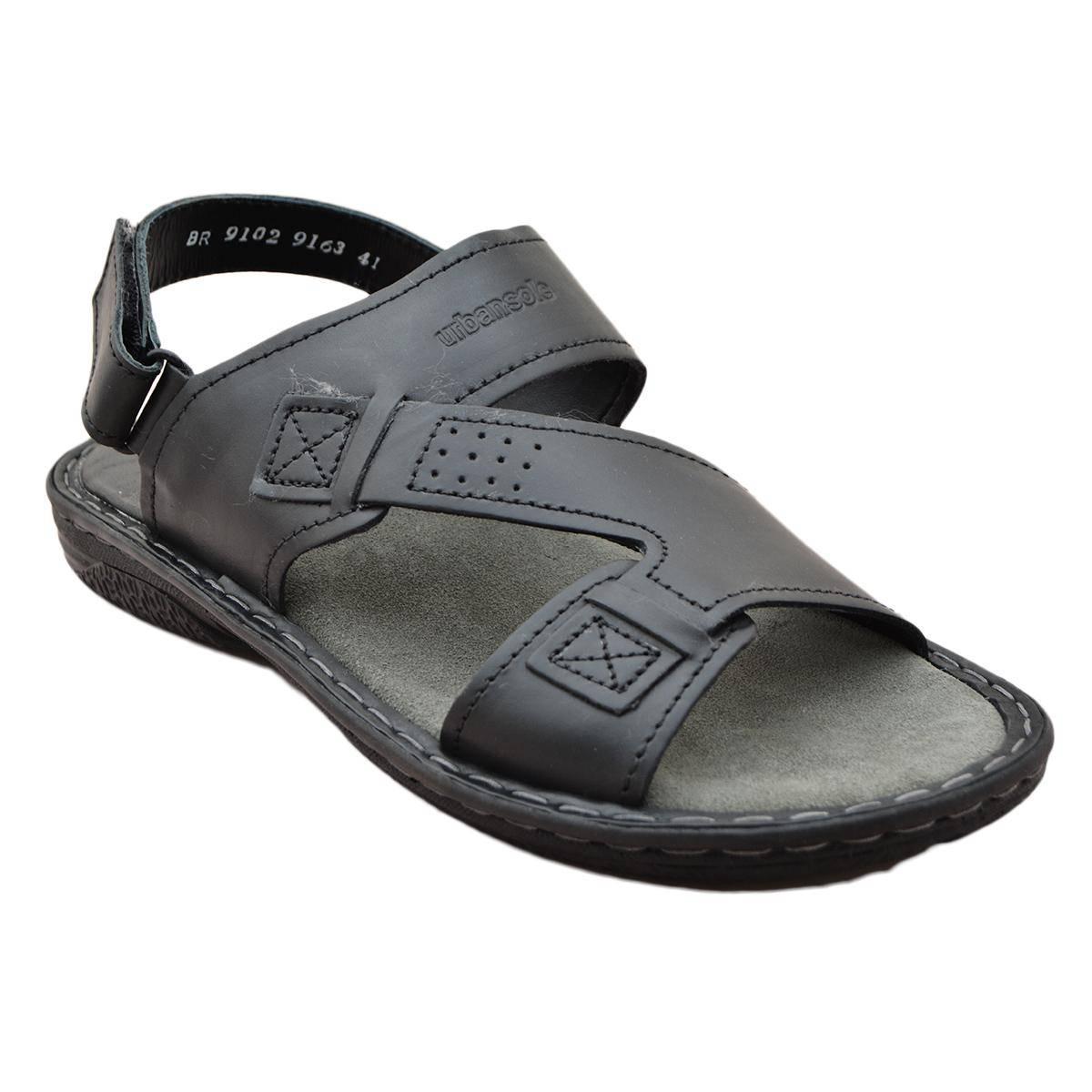 Urban Sole - Black Casual Sandal for Men - BR-9102