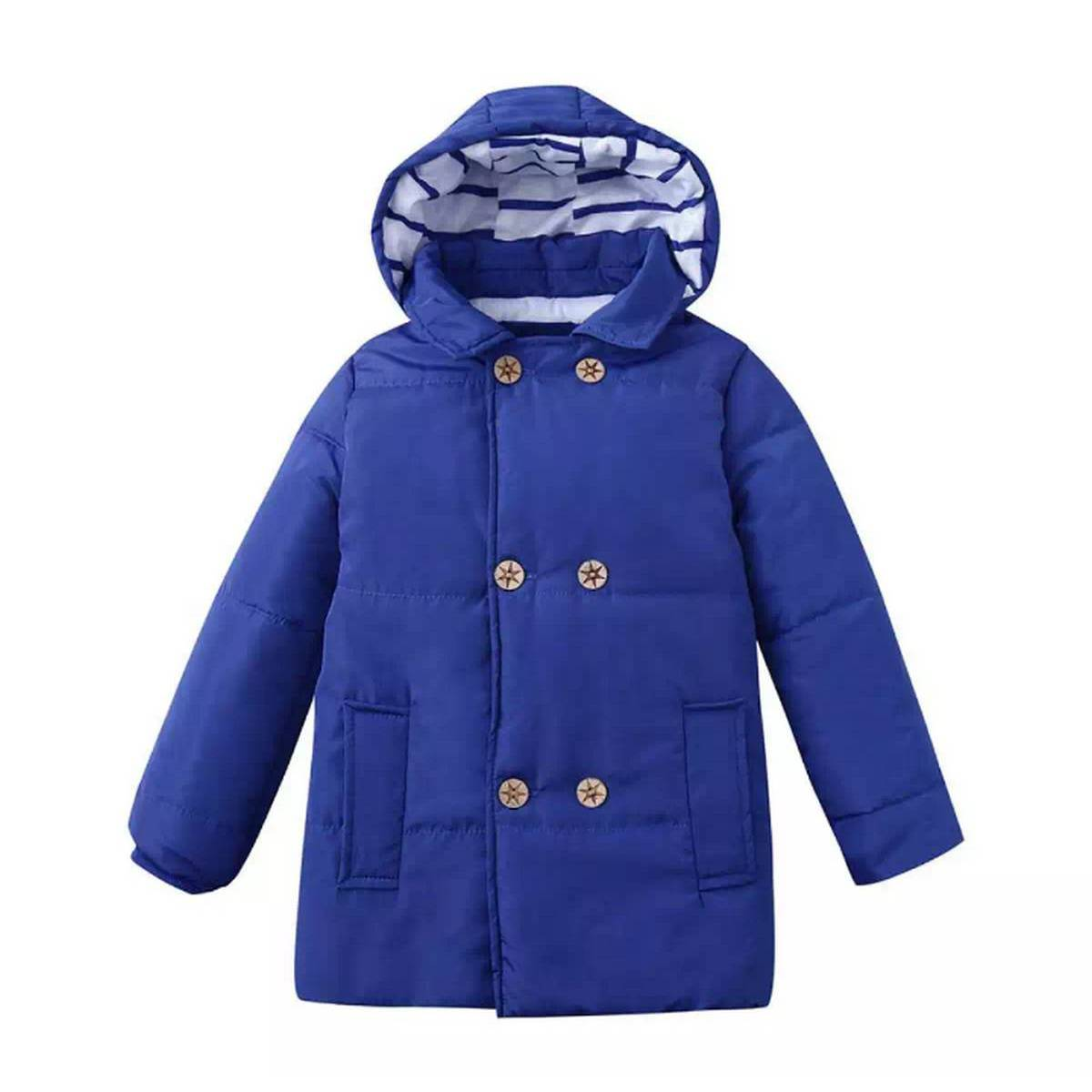 Lovely Baby Winter Boy Hooded Jacket Chidren Warm Thick Coat