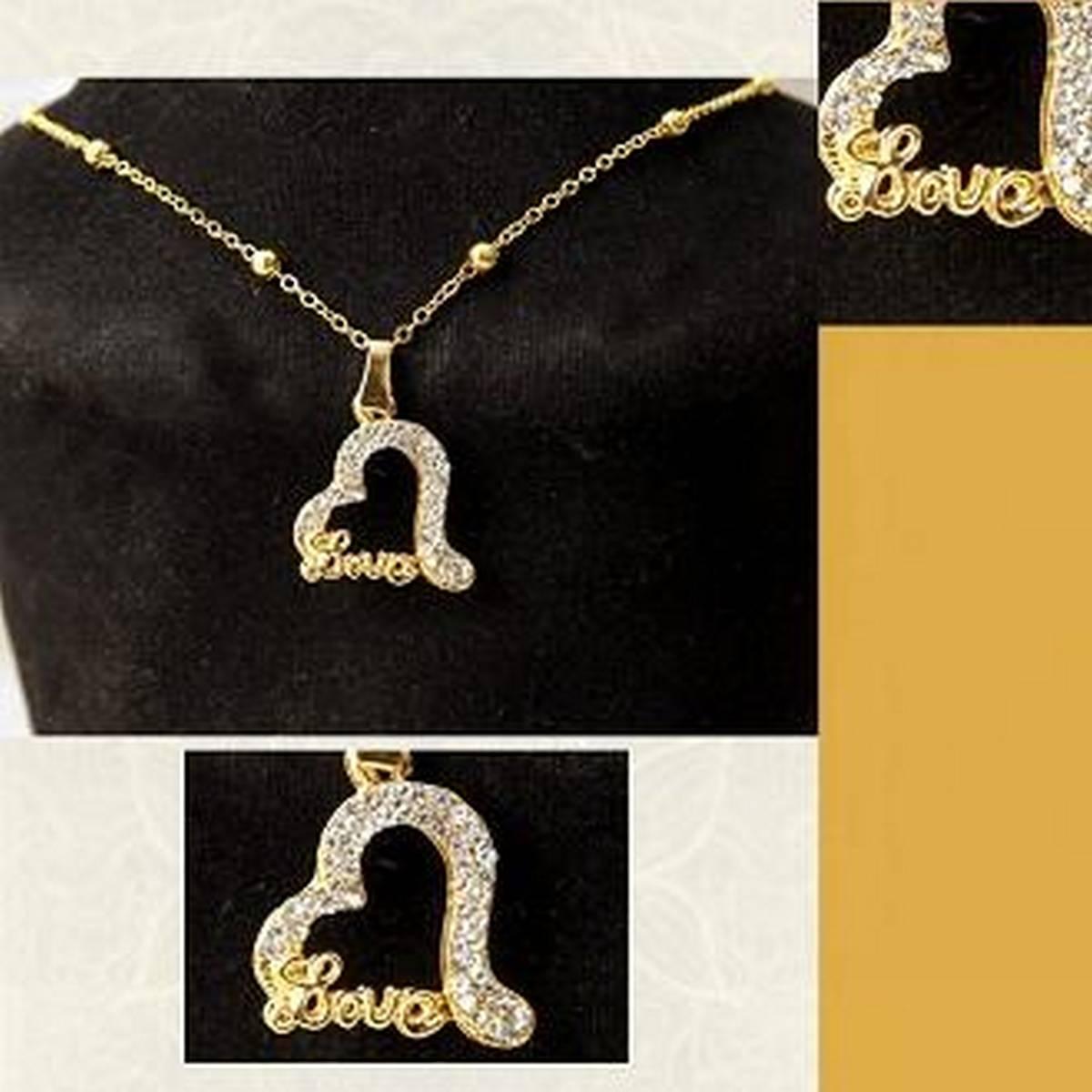 Golden Stainless K Alphabet Locket with Chain For Girls & Boys