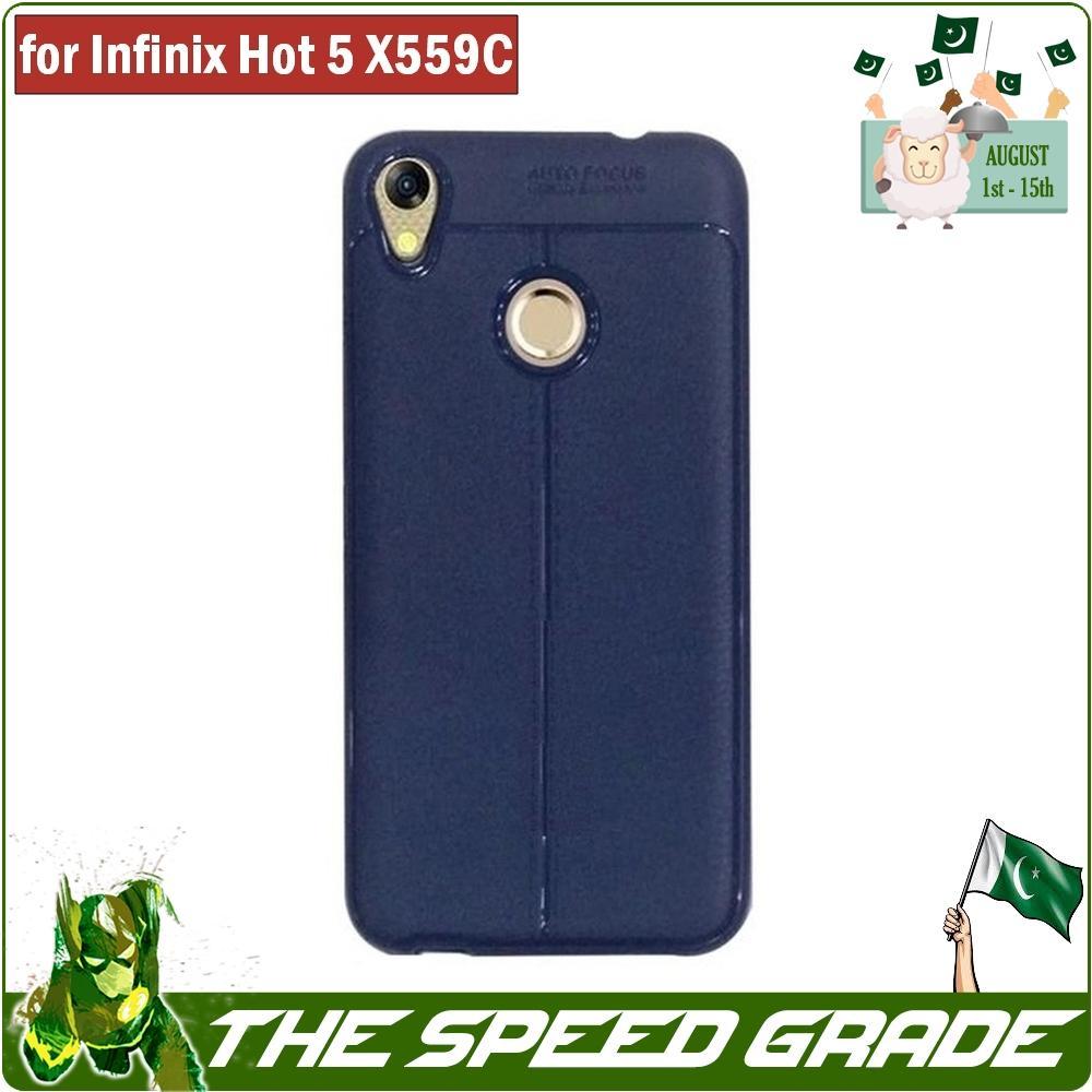 Infinix Hot 5 X559C Litchi Pattern T Design Soft Flexible