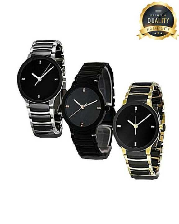 Pack Of 3 - Stylish Watch For Men