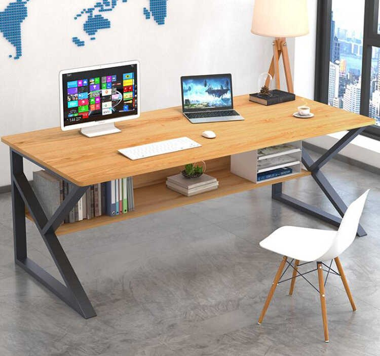 Office Table Desktop Table With Book Shelf Office Desk Book Shelf Laptop Table Computer Table Study Table Writing Table Home Table
