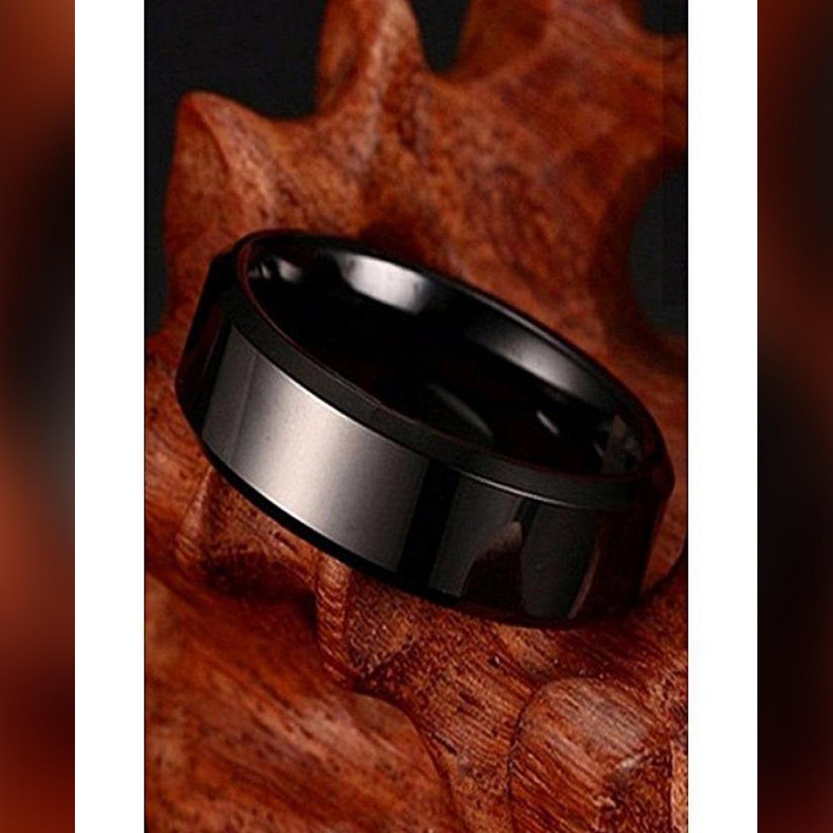 D Marts Black Titanium Ring Men D587