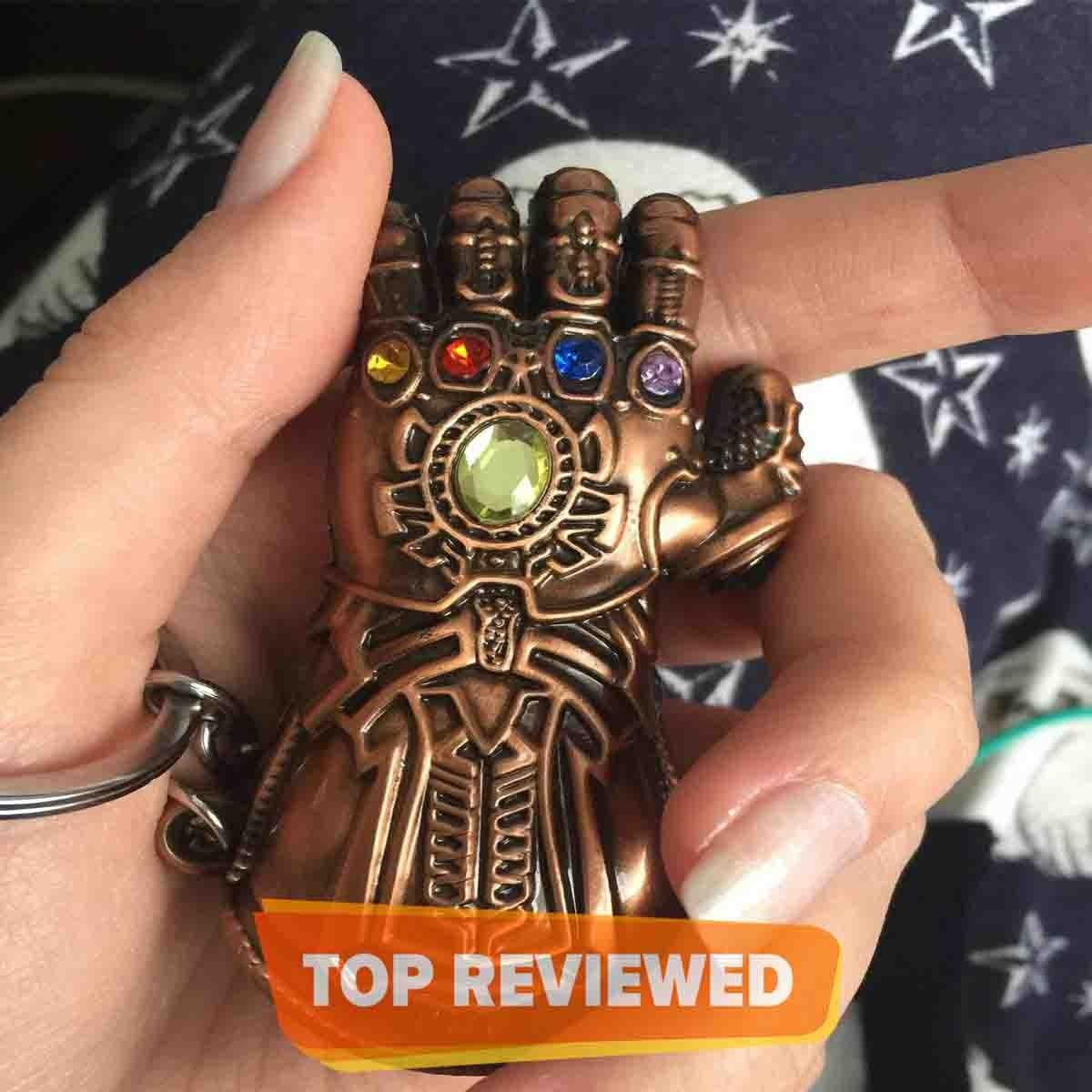 Thanos Infinity Gauntlet Metal Keychain - Avengers Infinity War Original Marvel Merchandise