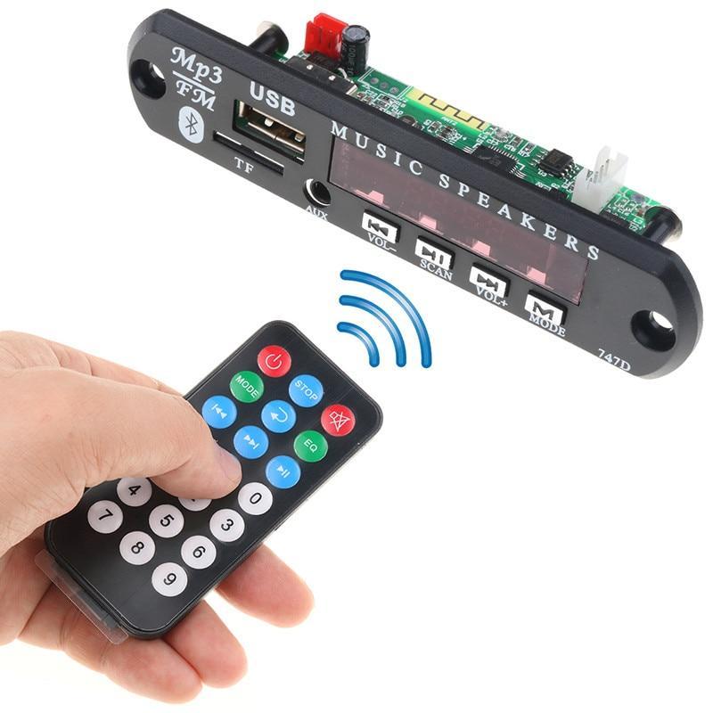 5V Bluetooth Car Kit FM Radio Wireless receiver Mp3 Player Decoder Board USB 3.5MM TF card AUX DIY Car Speaker Modification