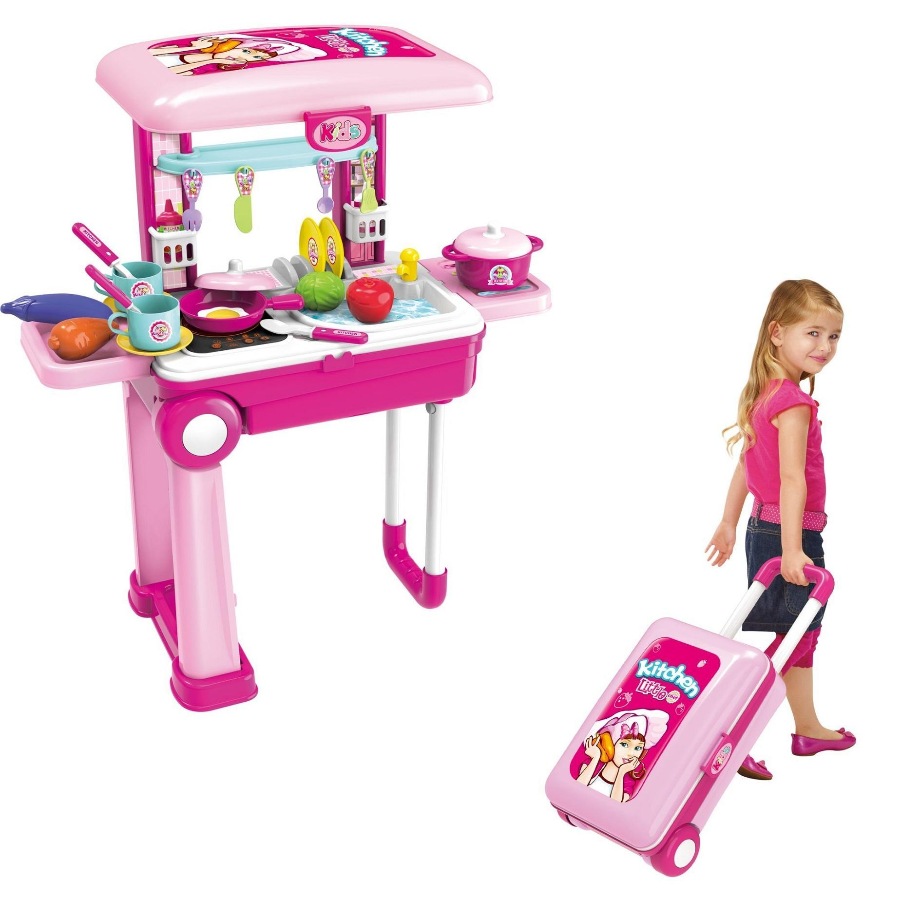 3 In 1 Luggage Kitchen Set Kitchen Set For Baby Girls Kitchen Toys