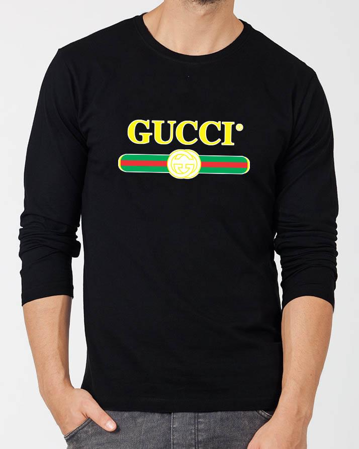 4f392503c07e ... Men - Boys in Pakistan. 233415 items found in T-Shirts. Gucci Black  Round Neck Best Printed Summer Quality Full Sleeve Tshirt