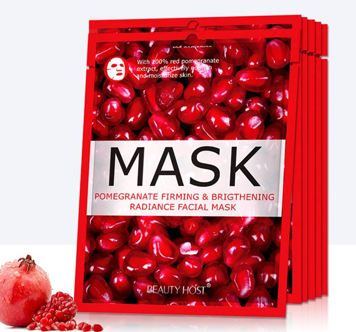 3 Pcs Repairing Firming Whitening Fruit Moisturizing Skin Care Radiance Facial Mask 25 ML