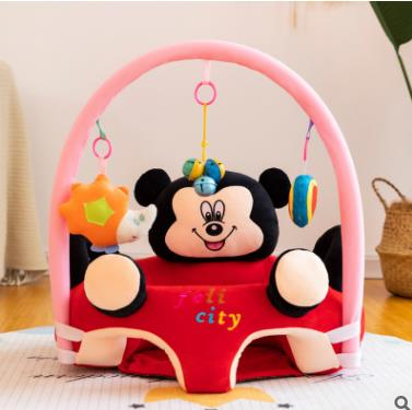 APC Baby Stuffed Gym Floor Playing Seat Sofa Infant Support Seat with Handle Toys Easy Carry Learning Sitting Pillow Chair Cushion Bouncer Floor Seat Feeding Plush Floor Cute Animal Seats Soft Cotton Nest Puff Safety Chair Soft Babies Toys with 2 Holes
