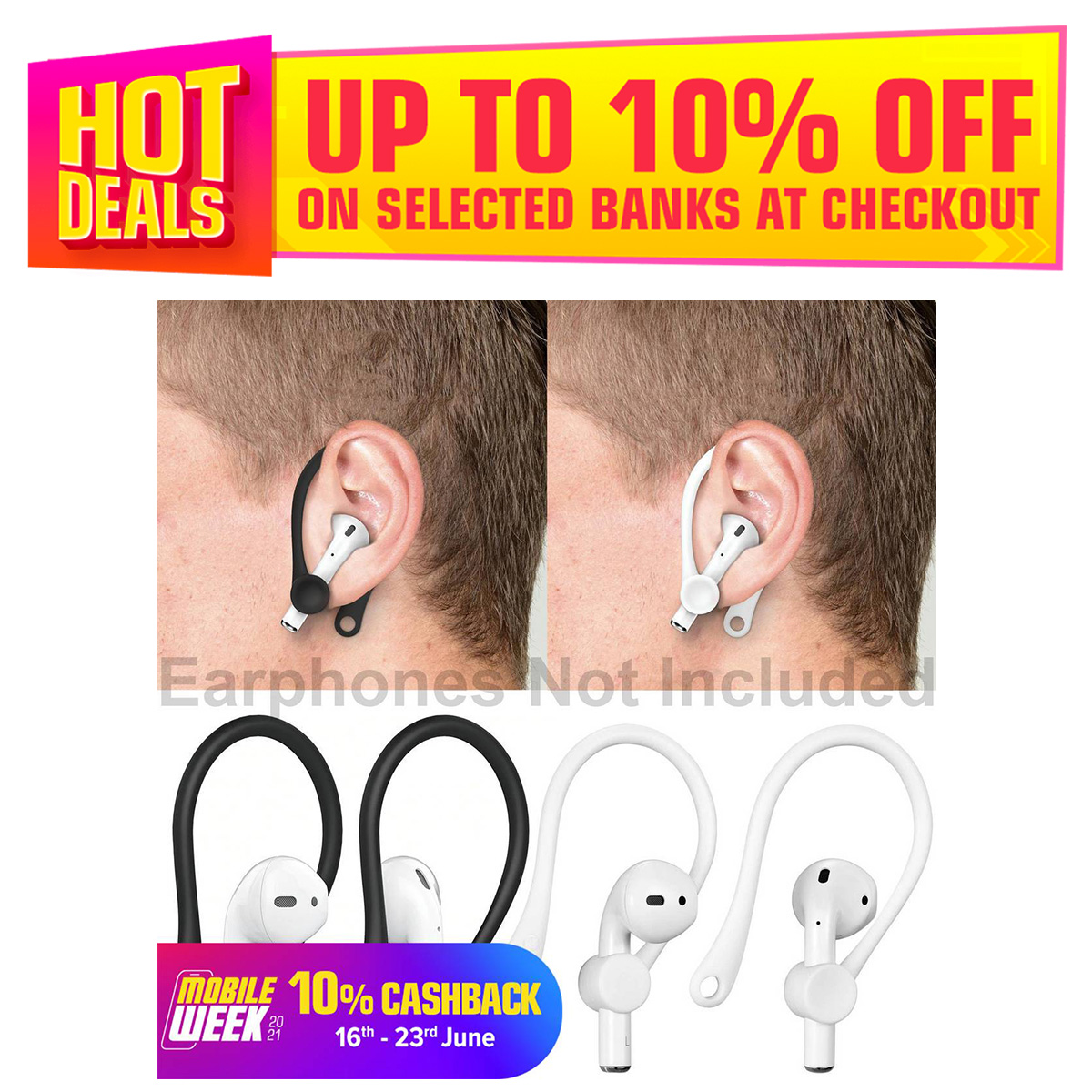 Silicone Anti-fall Bluetooth Headset Protective Earhooks Earphone Holder for AirPods Secure Fit Hooks Sports Anti Lost