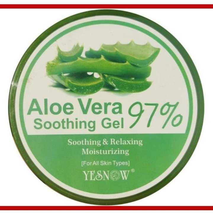 Aloe Vera Soothing Gel (Jar) - 300ml Smooth & Fresh Skin For All Skin Types